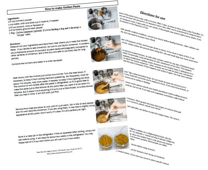 Golden Paste Instruction Sheet